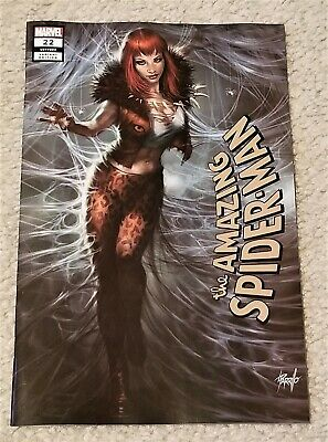 Amazing Spider-Man 22 Lucio Parrillo Kravenized Mary Jane Excl Variant Hunted !!