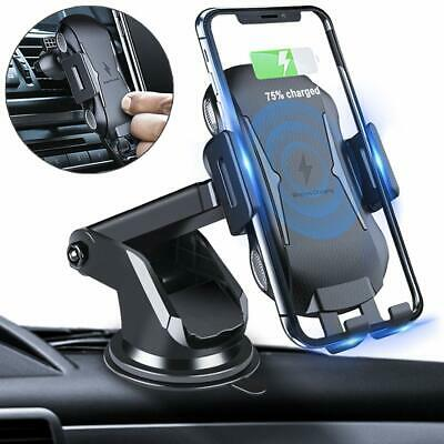 Fast 10W Qi Wireless Car Charger Dock Bracket Holder For iPhone 8 X 8Plus XS XR