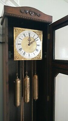 Art Deco Grandfather Clock circa 1930 fully serviced and in great working order