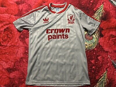 37a9f02545b Liverpool Retro Repro Adidas 1987-88 Away Shirt Crown Paint Short Sleeve  Size S