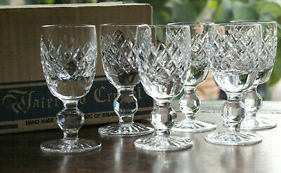Waterford Crystal Boyne Liqueur Glass Set of 6 Mint Boxed Ireland