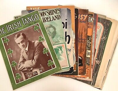 VINTAGE LOT OF 14 Assorted SHEET MUSIC Song Sheets 1900's - $7 50