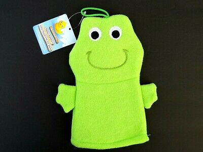 NEW Frog Terrycloth Bath Puppet Mitten Mitt Kid Baby Child Bathtime Bath Fun