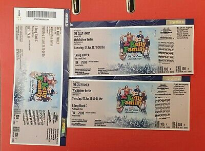 Letztes  Ticket Kelly Family Berlin Waldbühne - 01.06.2019 - 1. Rang Block C
