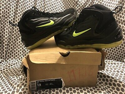 detailed look be27b 81572 2009 Nike Air Total Max Uptempo LE Black Volt size 13