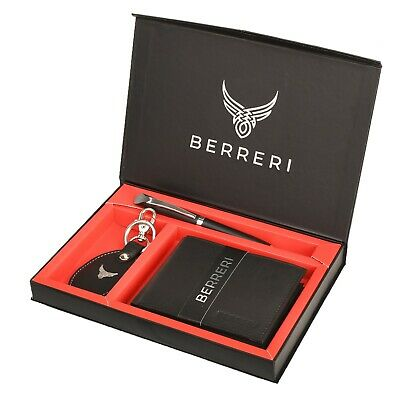 Mens Leather Wallet RFID safe Quality Soft Credit Card Holder Purse Genuine