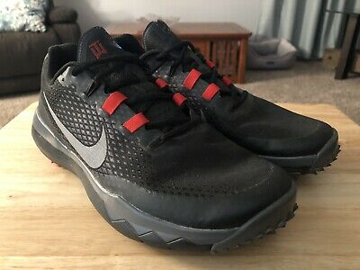 new style ce09c 2998c Nike Tiger Woods TW 15 704884-001 Black Red Grey Golf Shoes Spikes Men s  Size