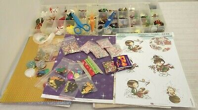 Large Collection of Craft Items-Craft Paper,Embellishments,Beads  O-9079-MY-W20