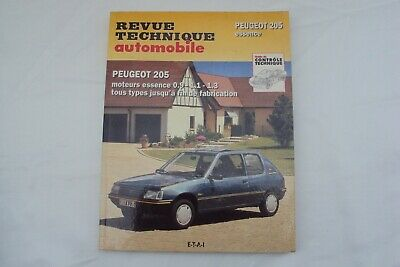 Revue Technique Automobile Peugeot 205 Essence Gl-Sr-Gr-Gt