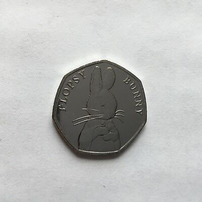 Beatrix Potter 2018 Flopsy Bunny 50p From Tale Of Peter Rabbit Uncirculated Coin
