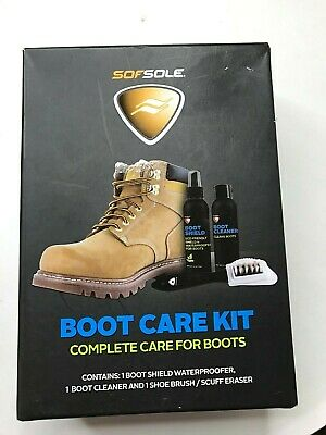 NEW SEALED *MINOR BOX DAMAGE* SofSole Boot Care Kit - Complete Care for Boots