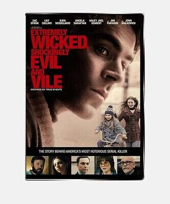 Extremely Wicked, Shockingly Evil, And Vile DVD [NEW/SEALED] Ted Bundy 2019
