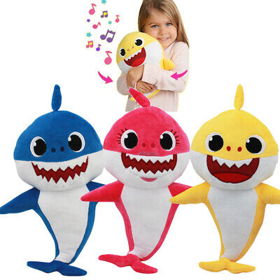 Kids Baby Soft Dolls Shark toy with Music Sound Cute Animal Plush Singing Dolls