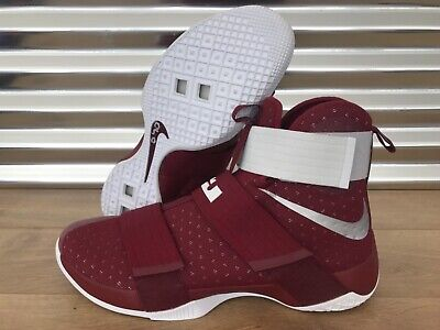 new styles 74c43 43141 Nike Lebron Soldier X 10 TB Basketball Shoes Maroon Red Silver SZ (  856489-662