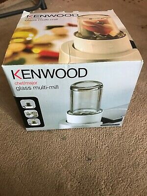 Kenwood Chef & Major AT320B Multi Mill Attachment with Glass Jars New In Box