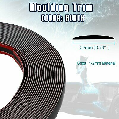 10FT BLACK MOLDING Trim Strip Car Door Roof Body Side Edge