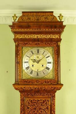 FINE MONTH MARQUETRY LONGCASE TALL CASE CLOCK - William Bird, London