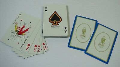 Vtg Case Farm Tractor Equipment Advertising Playing Cards Old Abe Eagle Promo