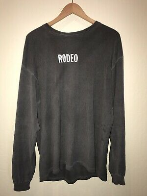 """160f5b1490cf Travis Scott """"Rodeo In Concert USA"""" Long Sleeve Tee T-Shirt Size Large"""