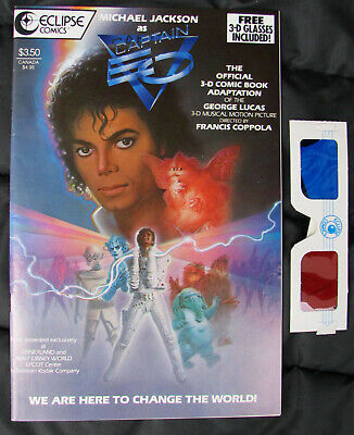 Michael Jackson BD Bande Dessinée CAPTAIN EO 3D Comic Comics Book 1987