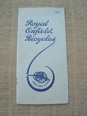 Catalogue Cycles Royal Enfield Bicycles 1910 Vélo Bicyclette Accessoires