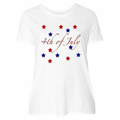 1d28e14bd Inktastic 4th Of July Stars Women's Plus Size T-Shirt Red White Blue America  Day