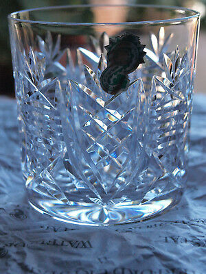 Waterford Crystal Clare Tumbler Old Fashioned 9 Oz Vintage Mint