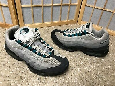 f061d03be4 OG 2008 NIKE AIR MAX 95 WHITE GREY FRESH WATER TEAL BLUE SZ 12 QS limited