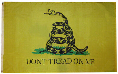 3x5 Gadsden Yellow Snake Dont Tread On Me 3'x5' Rough Tex 100D Oxford Poly Flag