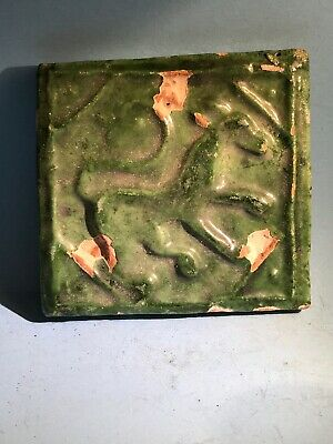 Ancient Near Eastern Ceramic Glazed Tile With Depictions Of Animals