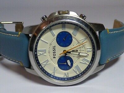 Fossil Blue Men's Stainless Steel Chronograph Watch