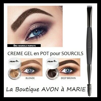 PERFECT BROW CREME Gel en POT pour Sourcils AVON MARK : LONGUE TENUE
