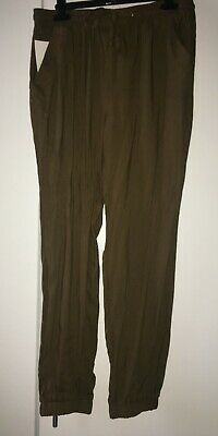 New Look Ladies Girls Khaki Trousers | Size 12