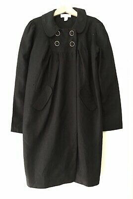 Marie Chantal Girls Black Linen Coat Age 10 -Excellent condition