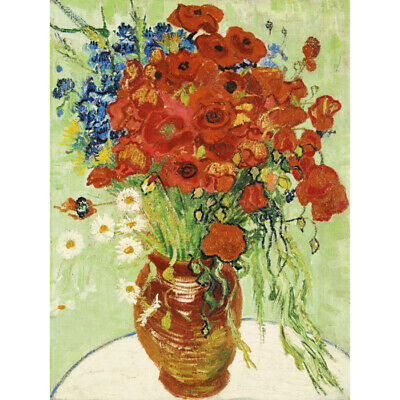 Daisies and Poppies Vincent Van Gogh  HD Canvas Art Print Oil Painting