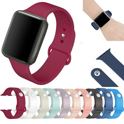 For Apple Watch 42/44 40/38 Replacement Silicone Wrist Sport Watch Band Strap