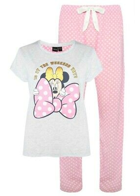 Primark Ladies Girls Disney Pyjamas T Shirt Lounge Pants Pajamas Pj Set Pjs New
