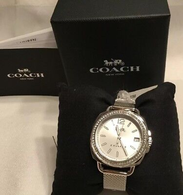 NEW IN BOX, COACH WOMANS WATCH 14502755 TATUM 35.5 mm STAINLESS STEEL