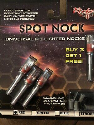 Arrows & Parts Outdoor Sports Victory Illuminated STROB Lighted NOCK 4 pack fit all 166,204,245 inside DIA