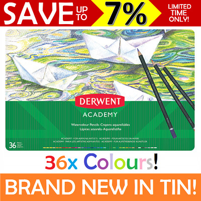 NEW 36x Derwent ACADEMY Colouring Pencils Assorted Art Craft Drawing 2300225
