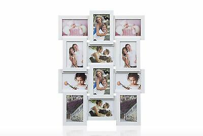 Multi Aperture Wooden Hold 12 X 6 X 4 Photos, Collage Picture Wall-Mounted Frame