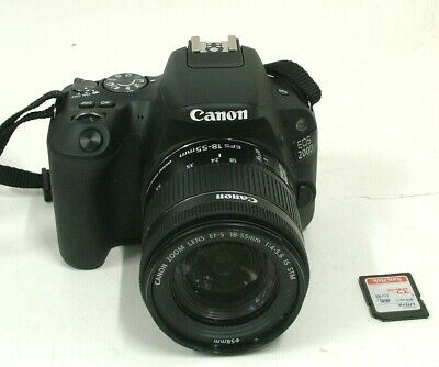 Canon EOS 200D 24.2MP Digital SLR Camera With EFS 18-55mm 4-5.6 IS STM Lens
