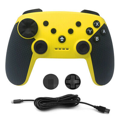 Pro Wireless Controller for Nintendo Switch PS3 Bluetooth GamePad Yellow