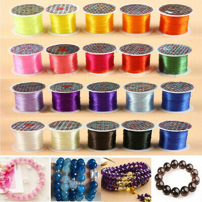 1 roll Strong Elastic Stretchy Beading 1mm Thread Cords For Jewelry Making LOT
