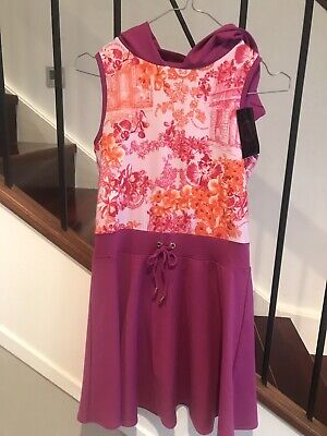 Young Versace Girls Purple Dress Size Xxl - 12 Years Brand New With Tags