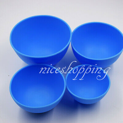 1X Dental Impression Cup Lab Mixing Bowl Blue Nonstick Flexible Silicone Rubber