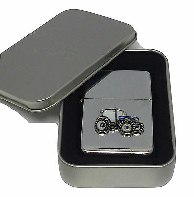 New Holland/Ford Tractor Lighter Enamel Badge NO FUEL INC Smoking Gift Boxd Farm