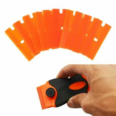 100pcs Plastic Double Edged Blades Car Auto Glass Scrapers Film Sticker Removal