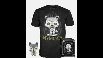 FUNKO POP NYMERIA POP T SHIRT BUNDLE HOT TOPIC GAME OF THRONES  PREORDER Small