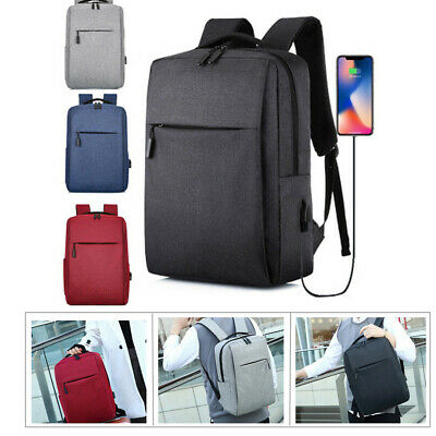 USB with Charger Port Backpack Laptop Notebook Travel School Bag Water Repellent
